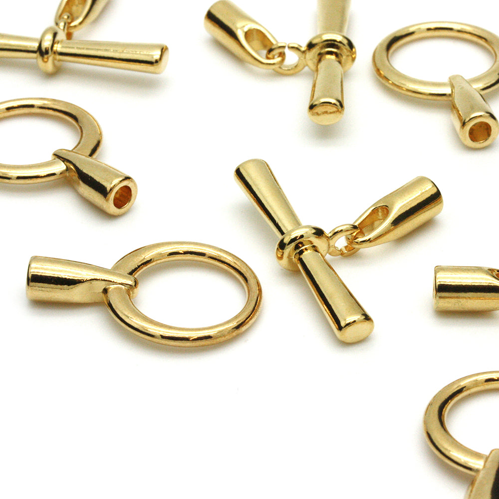 Glue in Toggle 3.2mm Gold Plated - Pack of 1