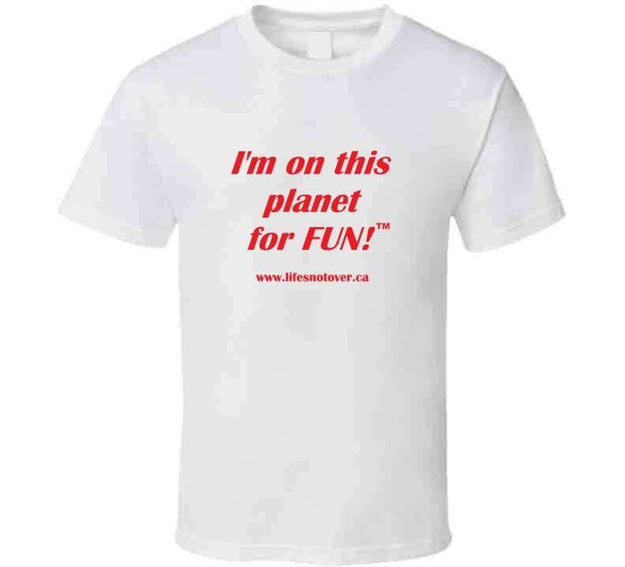 I'm on this planet for fun - coffee mug - Red Font