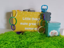 "Load image into Gallery viewer, Tot Box #2: ""Baby Tot, with Keepsake Memory Box"", for infants ages 3-9 months"