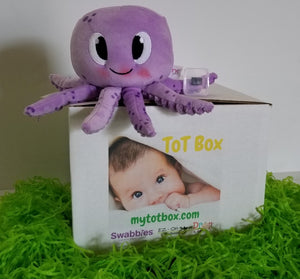 My Tot Box 4-box series, Quarterly baby subscription, for age range of 0-24 months