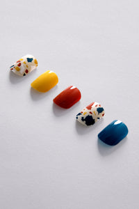 kirafeine gel nail stickers - marble crush