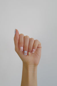 kirafeine gel nail stickers - muted ryb