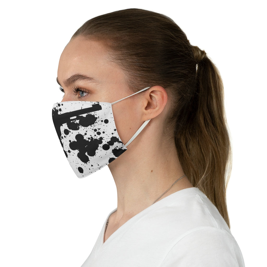 Stop or I'll shoot . Fabric Face Mask