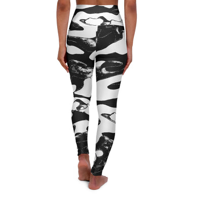 Camo cow. High Waisted Yoga Leggings