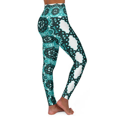 Teal. High Waisted Yoga Leggings