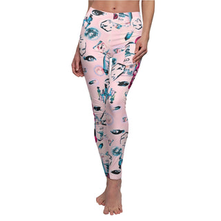 Cans and chicks, Women's Cut & Sew Casual Leggings