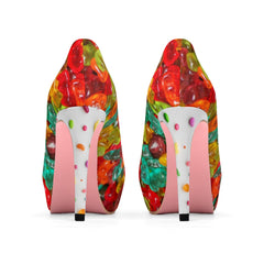 It's like candy, women's high heel platform shoes.