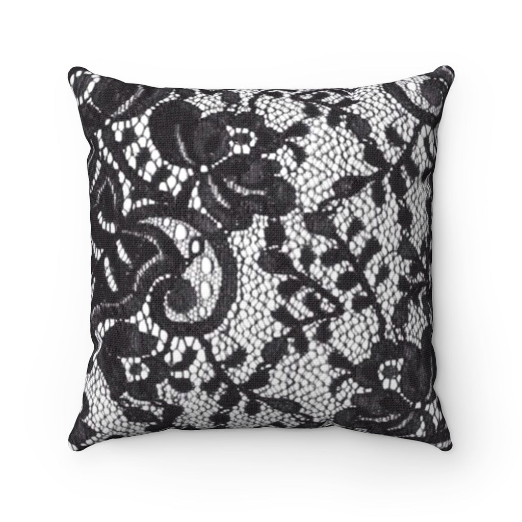 Lacey, Spun Polyester Square Pillow