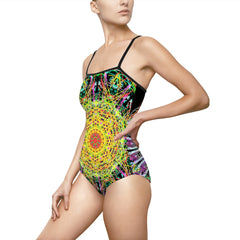 Meditate on my body , Women's One-piece Swimsuit
