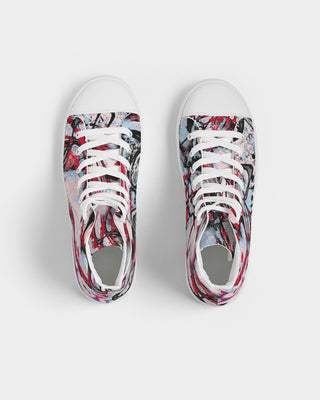 Pink jelly fish Men's Hightop Canvas Shoe