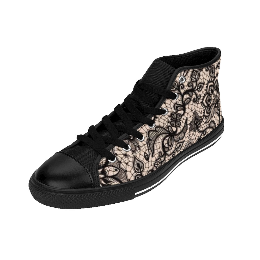 Love Lace, Women's High-top Sneakers