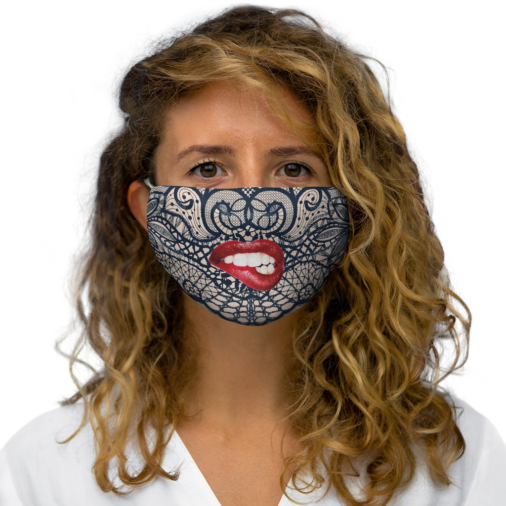 Real lips, Snug-Fit Polyester Face Mask