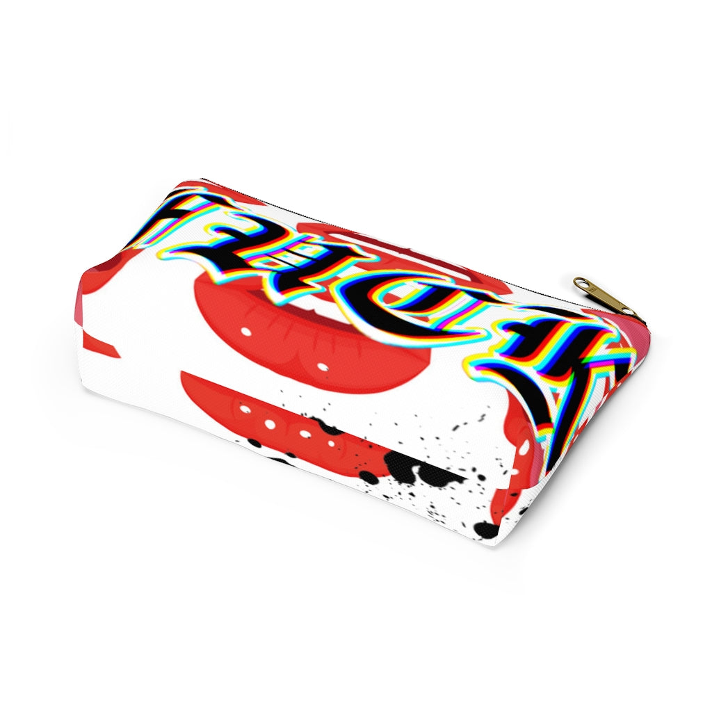 Lip popping, Accessory Pouch w T-bottom