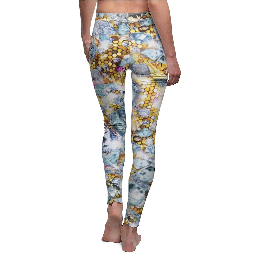 I want bling bling! Women's Cut & Sew Casual Leggings