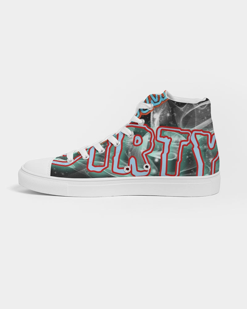 No sleep till Santa Cruz Women's Hightop Canvas Shoe