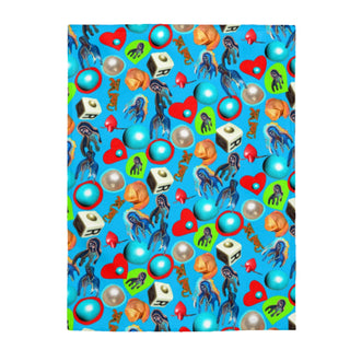 Mother blue, Velveteen Plush Blanket
