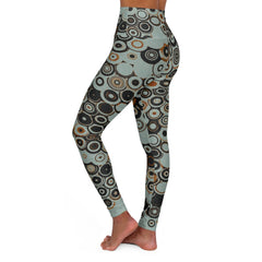 Circles, High Waisted Yoga Leggings