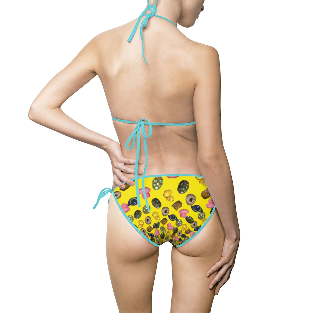 Mustard kaleidoscope . Women's Bikini Swimsuit