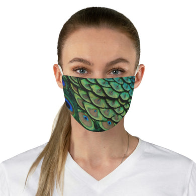 Peacock.Fabric Face Mask