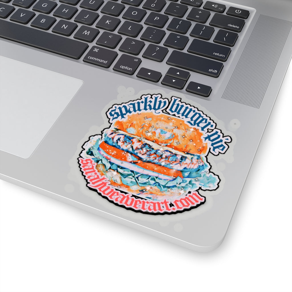 Sparkly Burger pie , Kiss-Cut Stickers