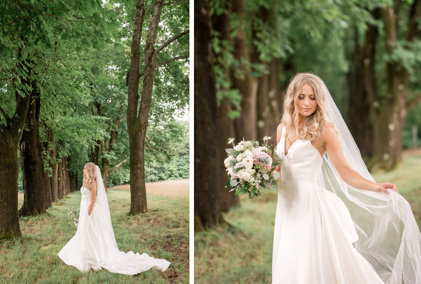 Bride and groom portraits at North Mowing Estate