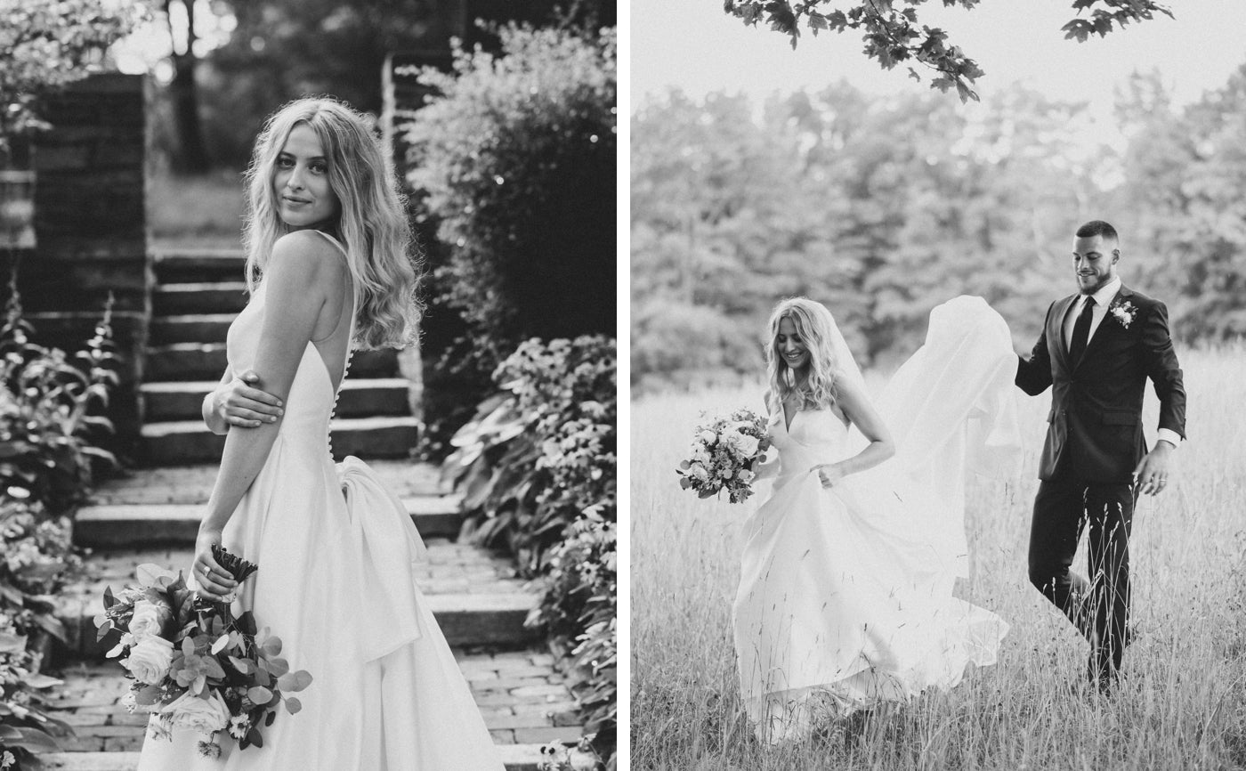 Madi and Devin's Intimate Wedding at North Mowing Estate, using The Monhegan Set from Events Delivered.