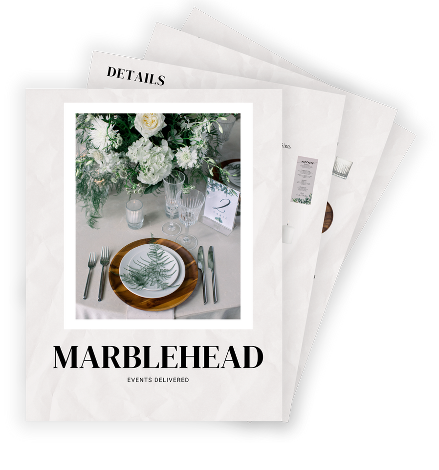 Marblehead events delivered DIY event box PDF
