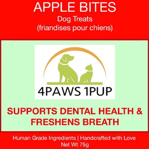 4PAWS1PUP APPLE BITES 70G