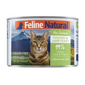 FELINE NATURAL CHICK/LAMB CAT CAN 6OZ