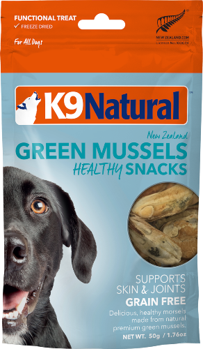 K9 NATURAL SNACK GRN LIPPED MUSSEL 50G