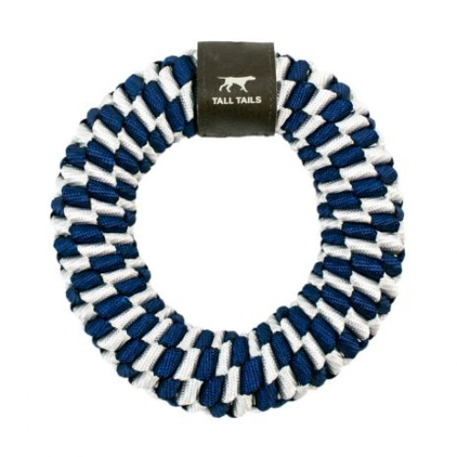 TTAILS BRAIDED RING BLUE 6""