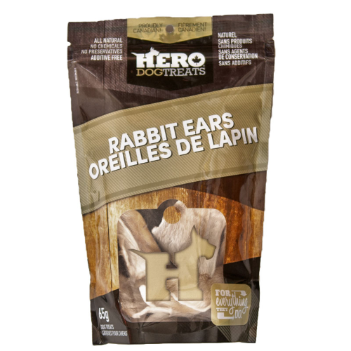 HERO DEHYDRATED RABBIT EARS 65G