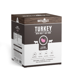 NATURAWLS RAW TURK/BEEF CAT 24X113G
