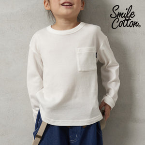 Smile Cotton smooth long sleeve pullover