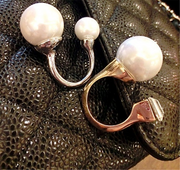 Rhinestones Swarovski with Pearl Open Size Rings