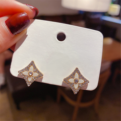 Vintage Gold Plated Initial GG Studs Earrings