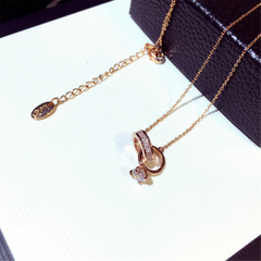 Minimalist Rose Gold Ring Chain Necklaces
