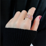 Cubic Zirconia Lace Adjustment Rings
