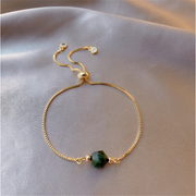 Wrap Cubic Zirconia Pearl Bangle Bracelet