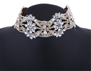 Classic Cubic Zirconia Beaded Choker Necklace