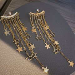 Stars Long Tassel Dangle Charms Earrings