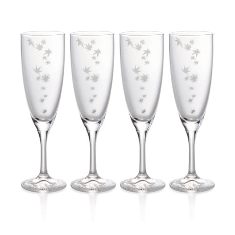 Momiji Sparkling Sake Glasses Set of 4