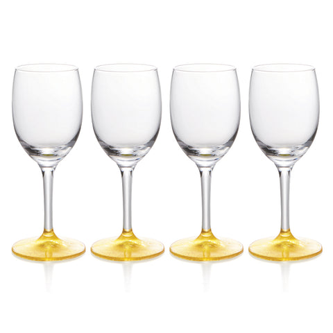 Gold Leaf Wine & Sake Glasses Set of 4