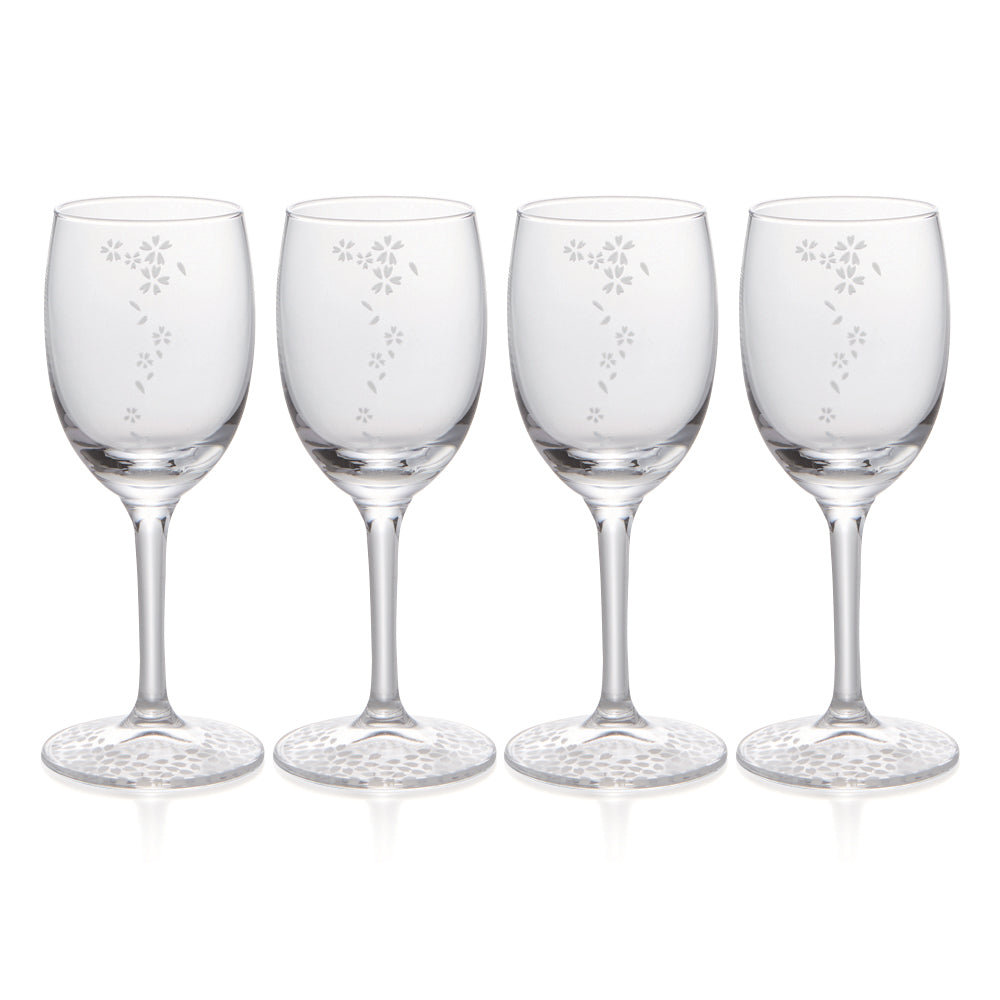 Sakura Wine & Sake Glasses Set of 4