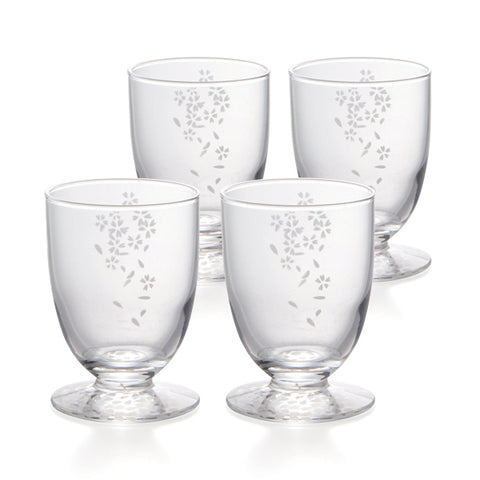 Sakura Cold Sake Sakazuki B Glasses Set of 4
