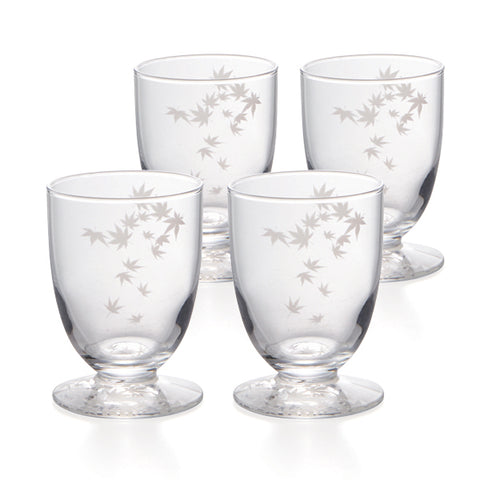 Momiji Cold Sake Sakazuki B Glasses Set of 4