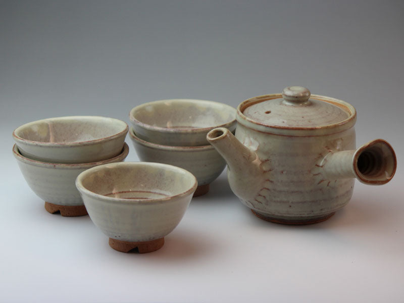 Hagi White Glaze Hagi Ware Tea Set