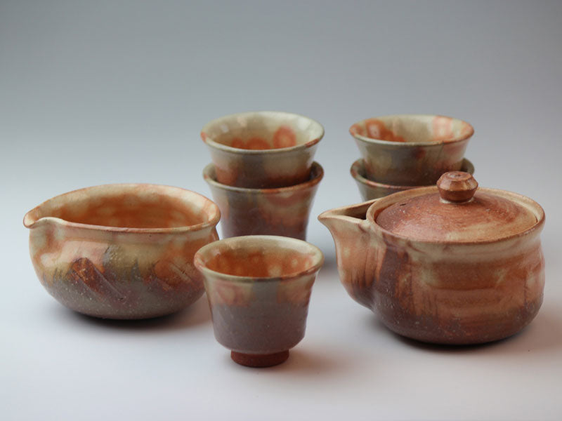 Color Hagi Ware Tea Set