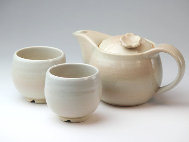 Hagi White Hagi Ware Tea Set