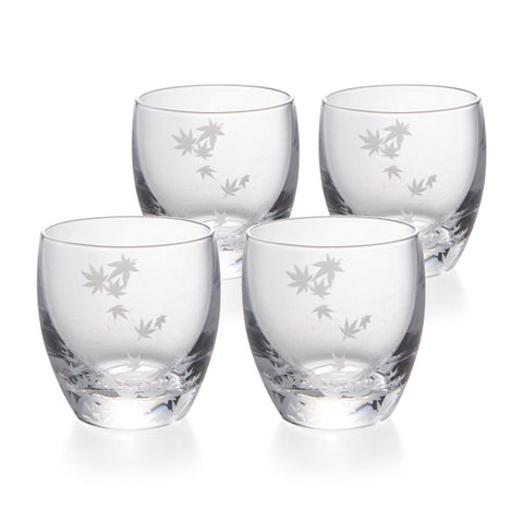 Momiji Cold Sake Glasses Set of 4